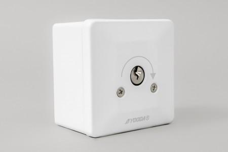 Przełącznik kluczykowy natynkowy, impulsowy, biały