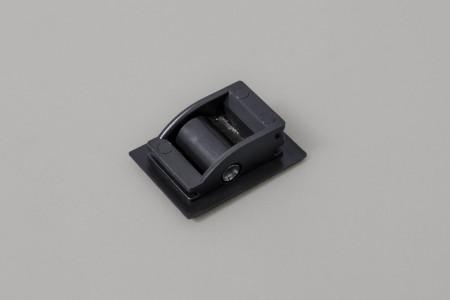 Prowadnica taśmy 14 mm ze szczotką do skrzynek PCV i ALU, antracyt
