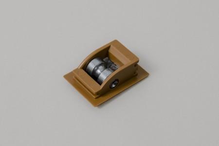 Prowadnica sznura PCV ze szczotką, do skrzynek PCV i ALU, złoty dąb