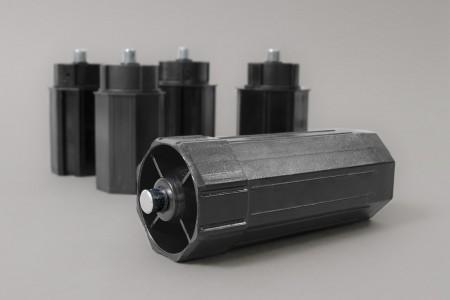 Obsadka Ø60, L150 mm z ośka stałą Ø12, L10