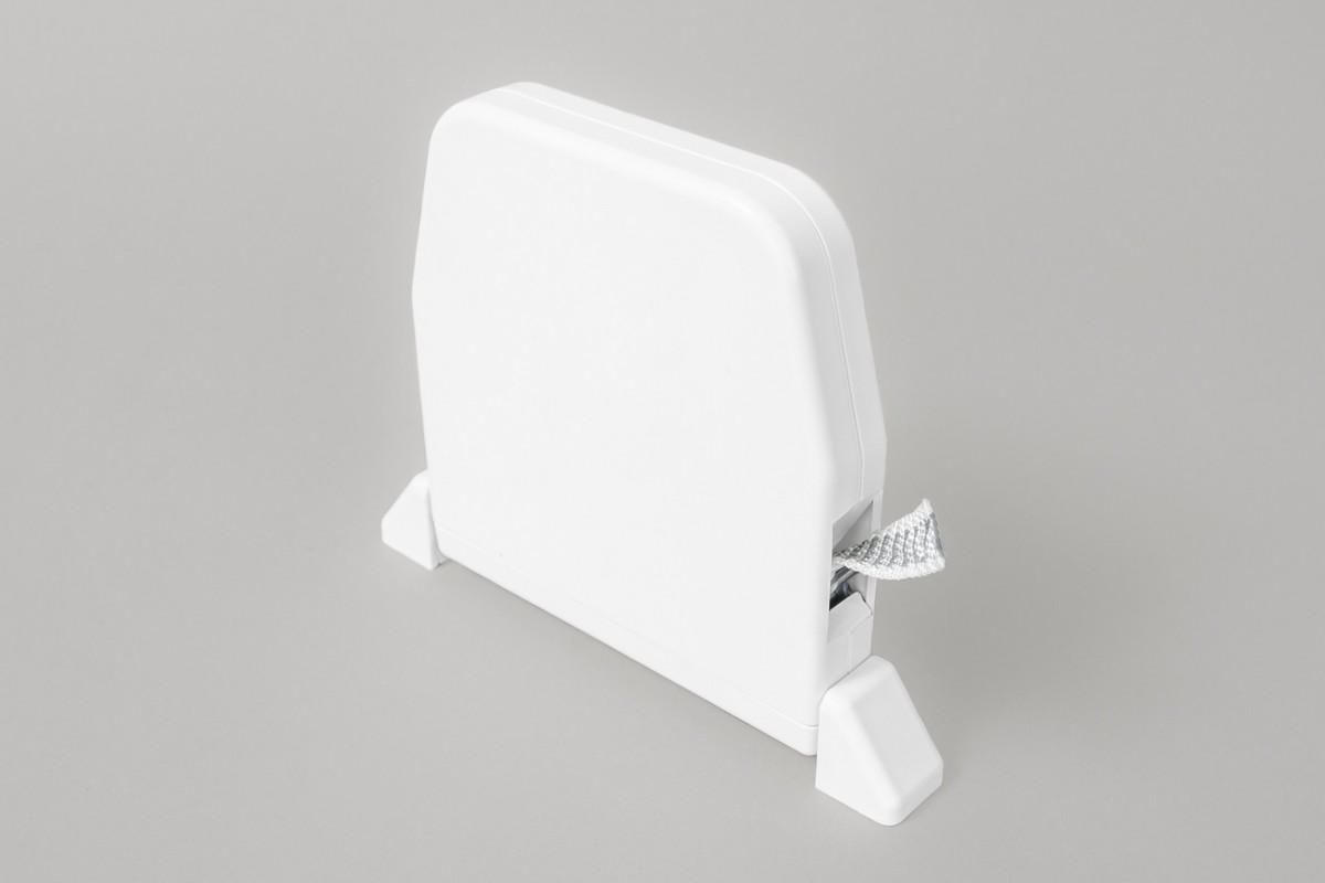 Zwijacz do 5 m na taśmę  z maskownicą (z taśmą), biały
