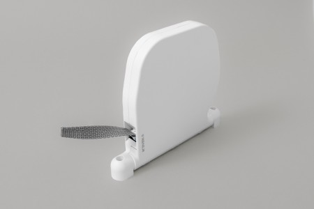 Strap box coiler (6 m) white with gray 14mm strap