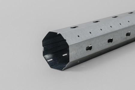 Octgonal steel tube Lock&Block Ø50 x 0.6 mm with an internal seam (6 m)