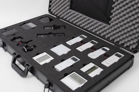 Prezenter walizka modułowa Biały/Czarny