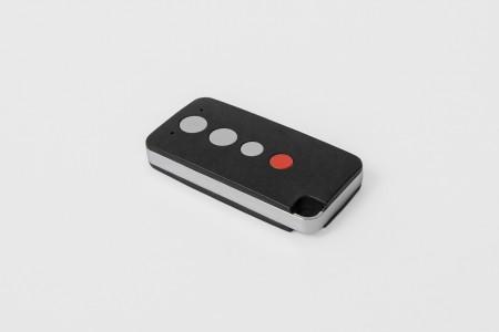 TP16, 3-Kanal Miniaturhandsender mit Rückmeldung, schwarz
