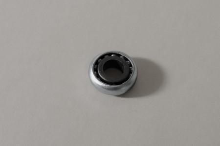 Łożysko z wieńcem plastikowym Ø28 / Ø12 z czarnym kołnierzem