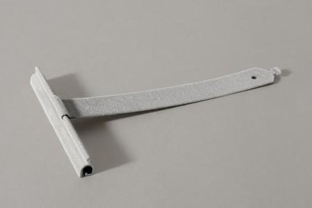 Wieszak flokowany wpust ALU100 bez rozcięcia L170 mm do profilu 37-52