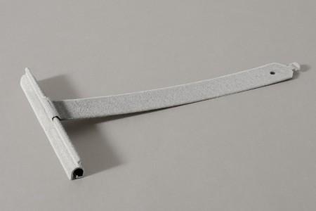 Wieszak flokowany wpust ALU100 bez rozcięcia L190 mm do profilu 55-77