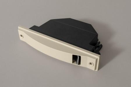 Zwijacz podtynkowy na taśmę 6 m / 14 mm (bez taśmy), beżowy