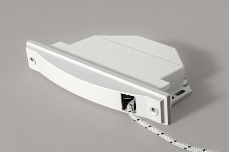Zwijacz podtynkowy na sznur 6 m (ze sznurem), biały