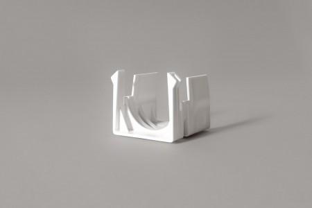 Winding rings bracket for horizontal blinds, white, type B