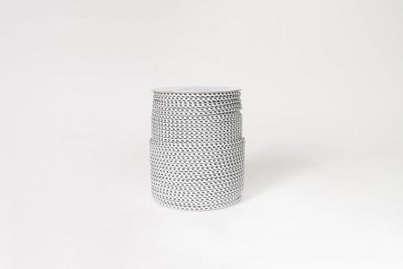 Sznur do zwijacza Ø4,5 mm, biało-czarny