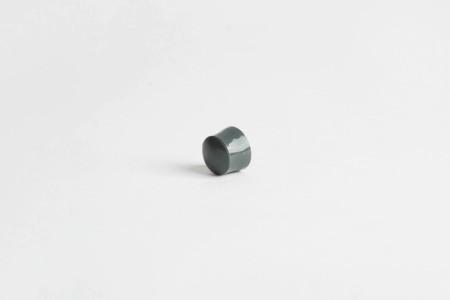 KU-Anschlagstopfen 13 mm mit Abdeckknopf, basalt