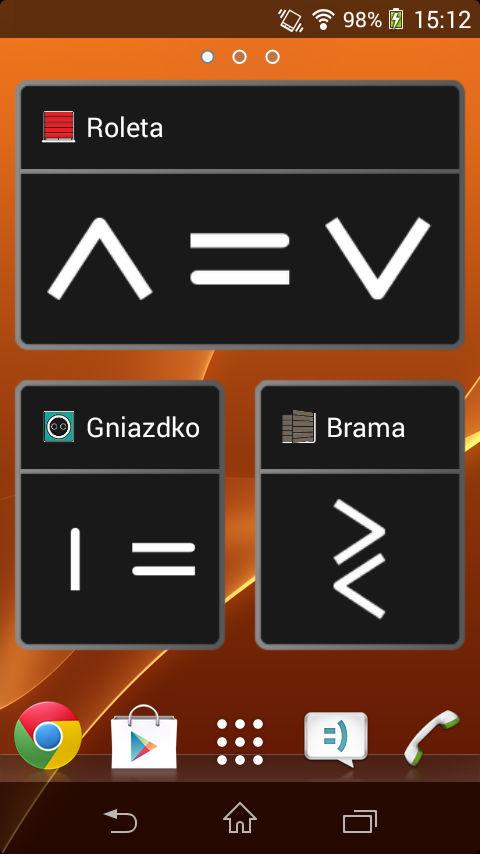 Zrzut ekranu - widget