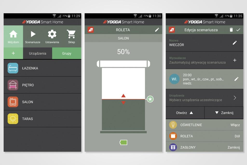 Screeny aplikacji
