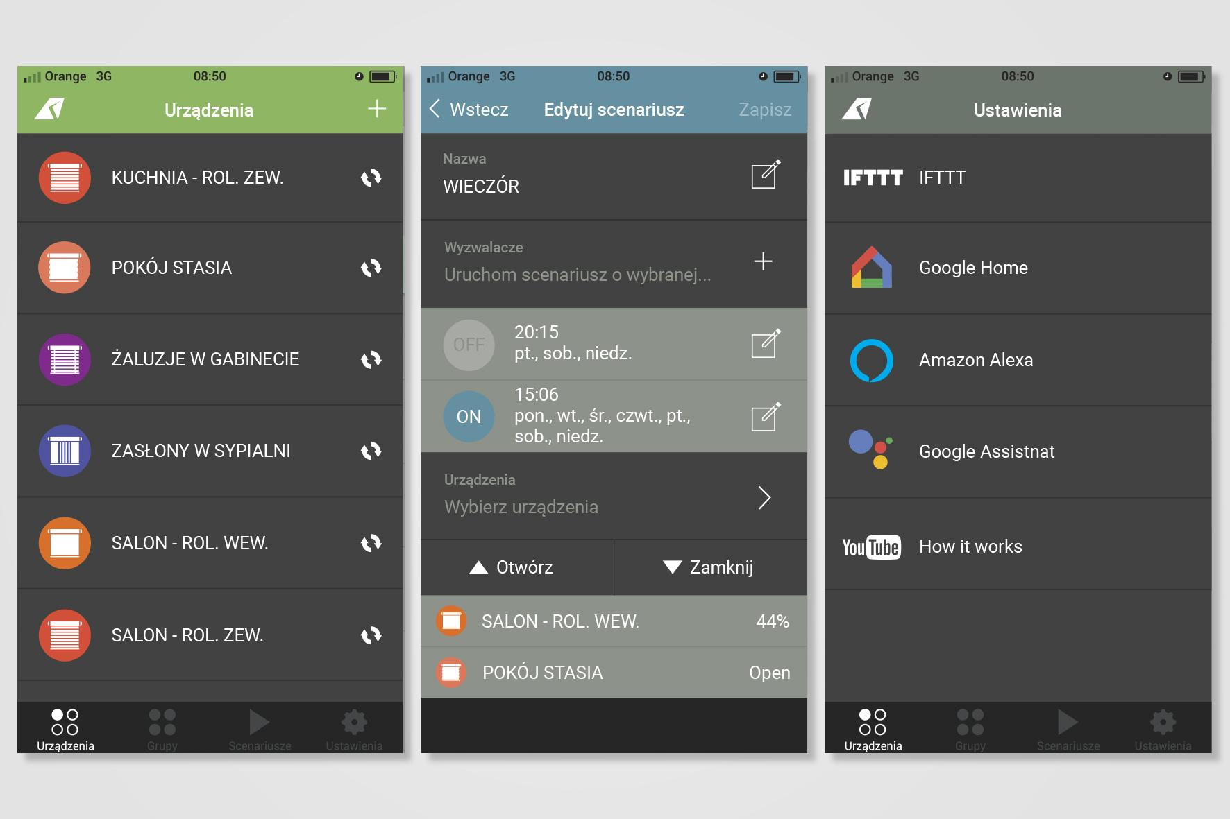 Screeny aplikacji YSH2